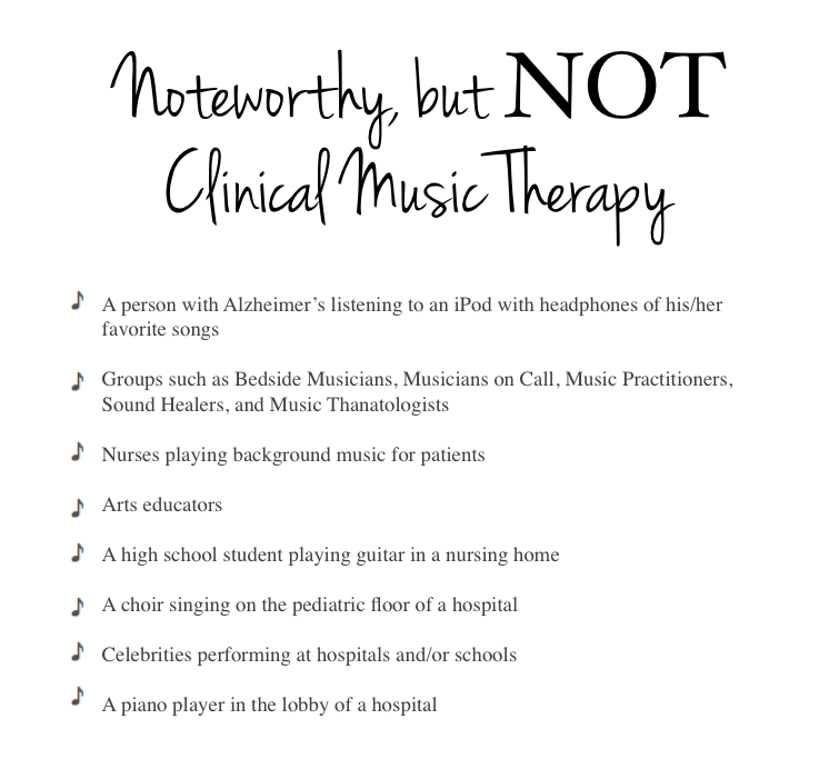 not music therapy
