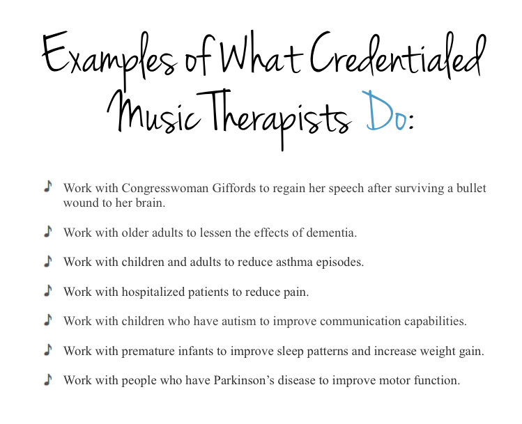 what music therapists do